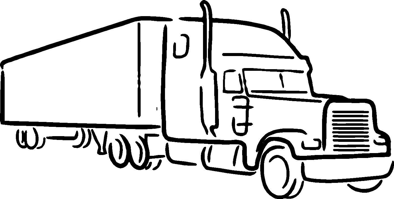 Clip Art Semi Truck Clipart semi truck black and white clipart kid xmas chop please chevrolet colorado gmc canyon forum