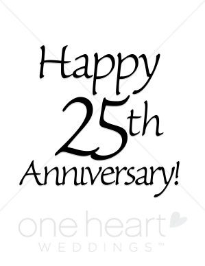 25th Anniversary Clipart   Wedding Anniversary Clipart