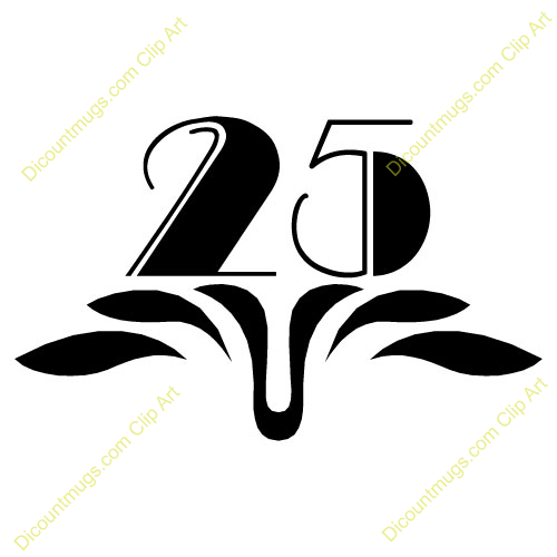25th Clip Art Cliparts