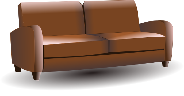 Brown Couch Clip Art At Clker Com   Vector Clip Art Online Royalty