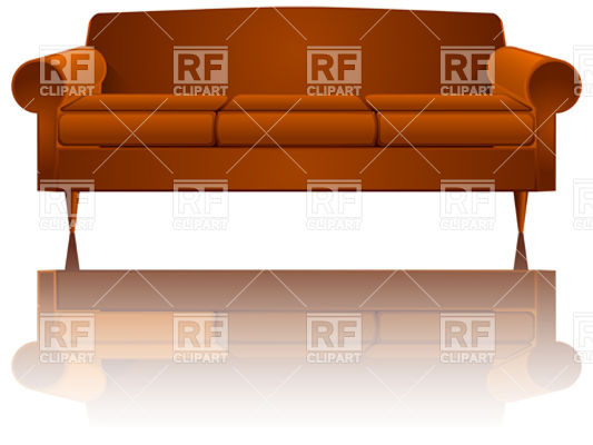 Brown Sofa 10586 Download Royalty Free Vector Clipart  Eps