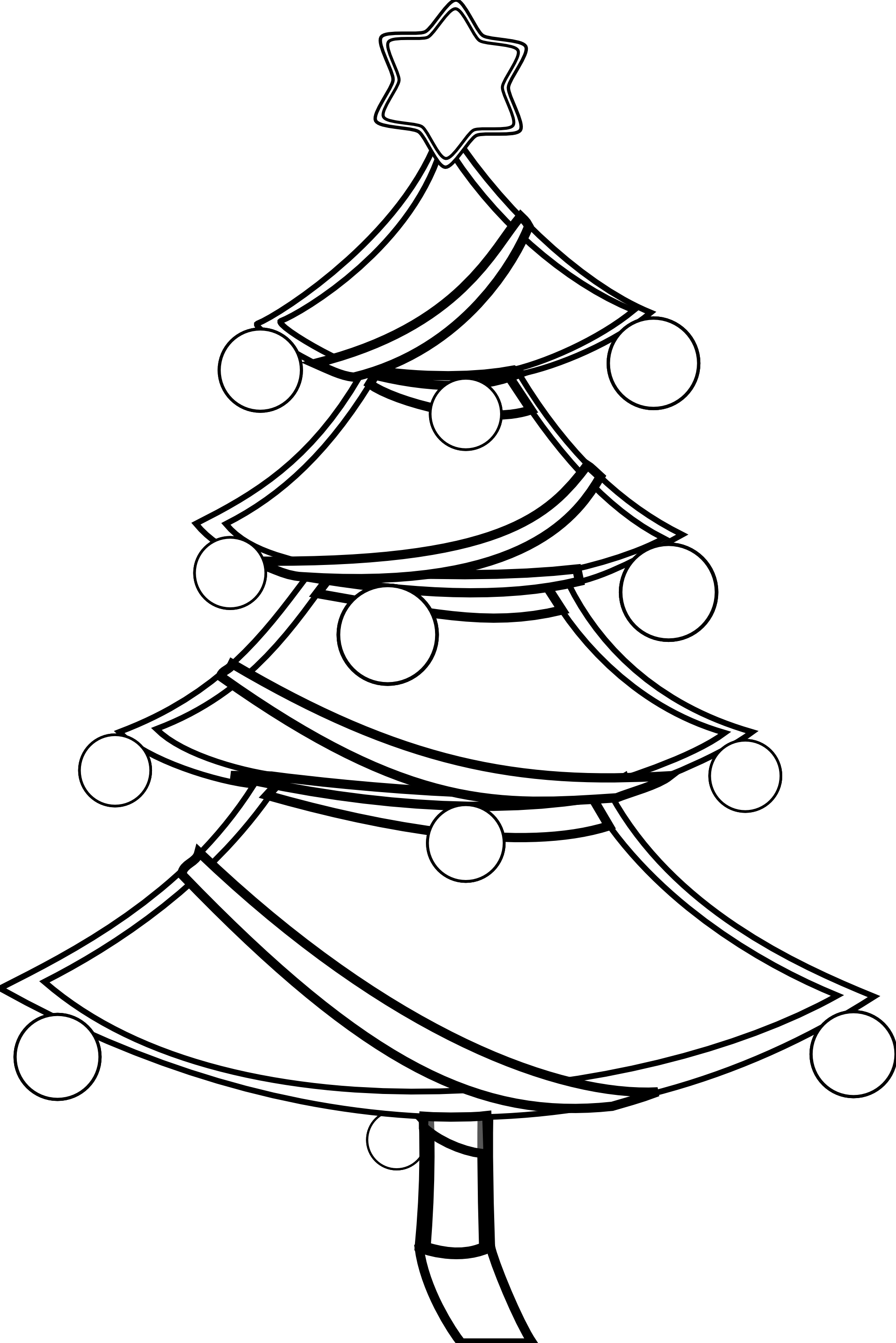 Christmas Clipart Colouring Pages  Page 2