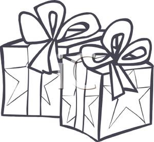 Christmas Presents Black And White Clipart - Clipart Suggest