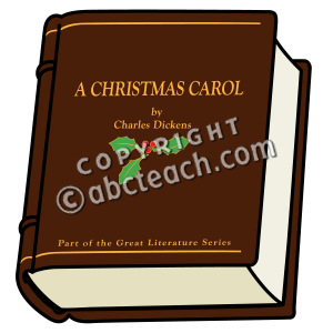 Clip Art  Christmas Carol Book  Color    Charles Dickens   Preview 1