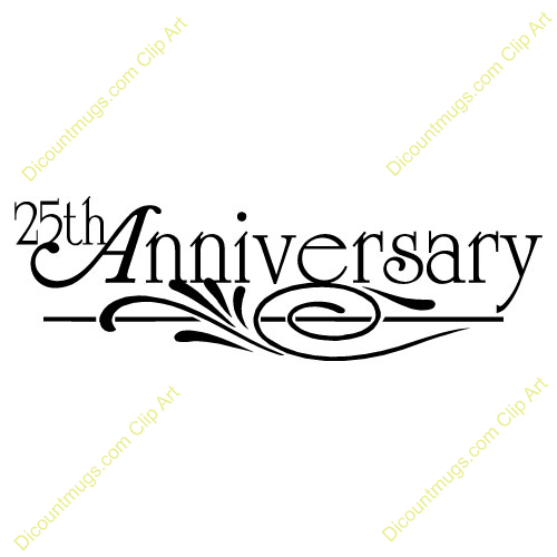 Clipart 10060 25th Anniversary Design   25th Anniversary Design Mugs