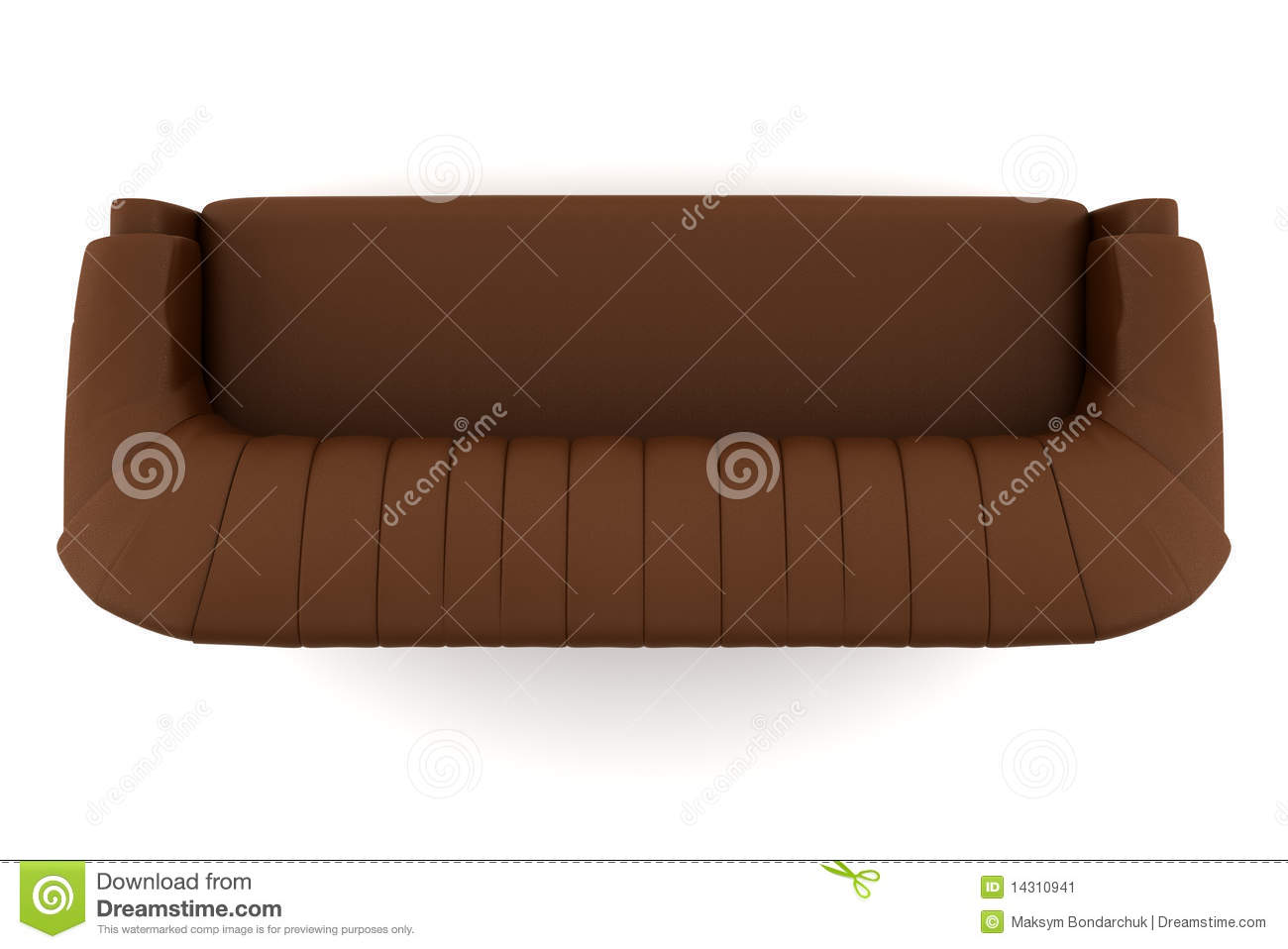 Clipart Couch Top View Top View Of Brown Leather Sofa
