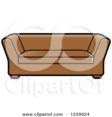 Clipart Of A Brown Sofa   Royalty Free Vector Illustration By Lal