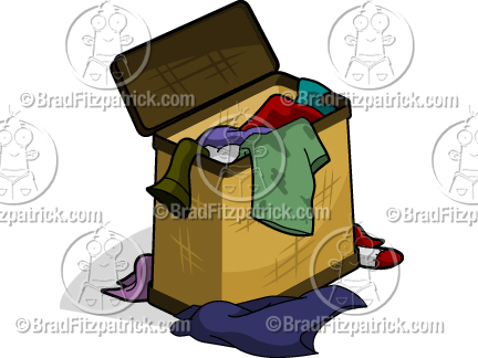 Dirty Cartoon Clothes Hamper  See My Cartoon Clothes Hamper Clipart