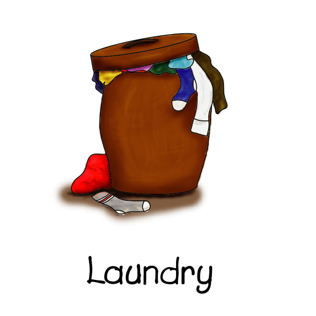 Dirty Clothes Hamper Clip Art