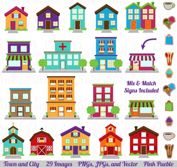 Community Places Clipart - Clipart Suggest