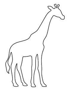 And Baby Giraffe Outline Giraffe Clipart - Clipart Kid