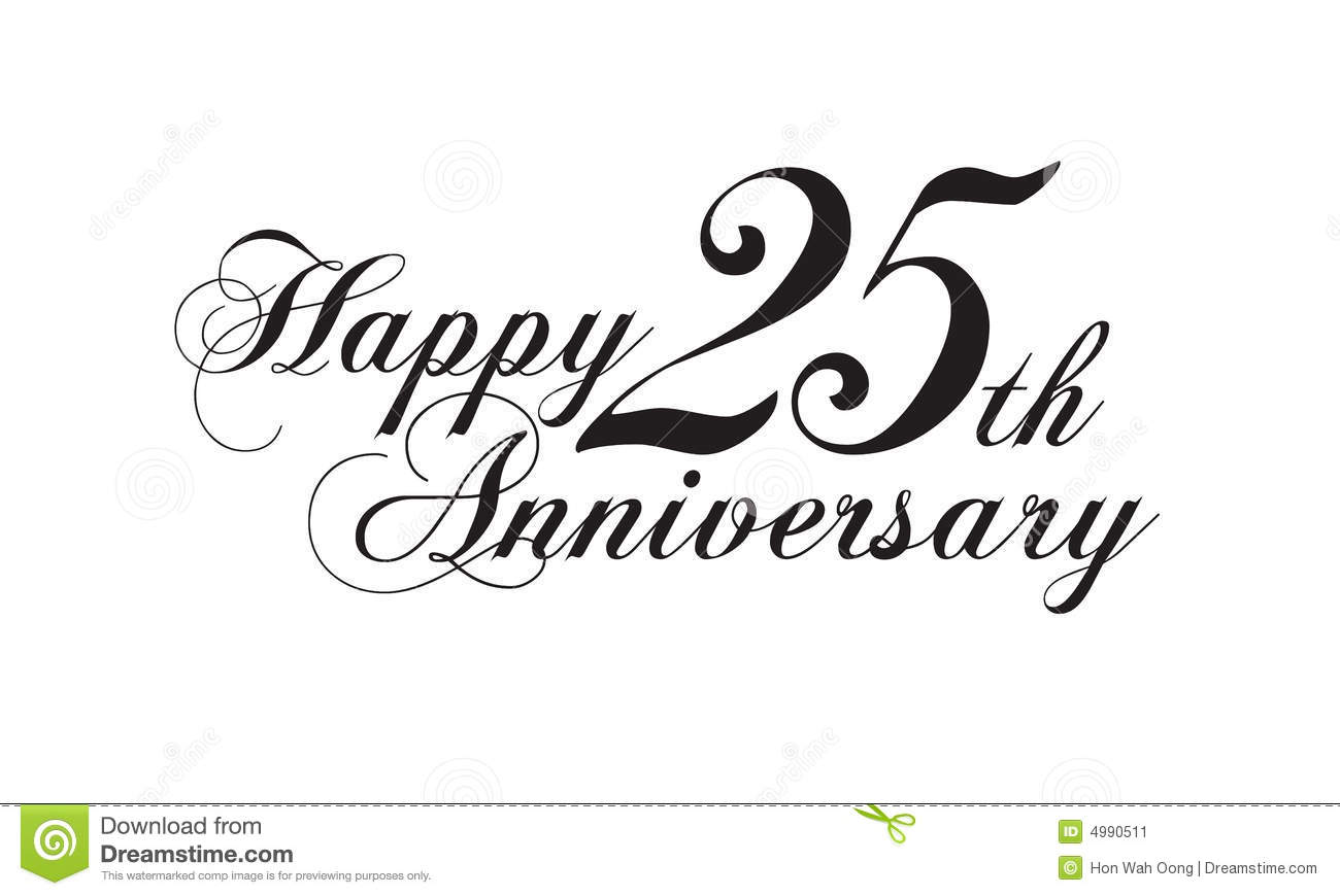 Happy 25th Anniversary Stock Image   Image  4990511