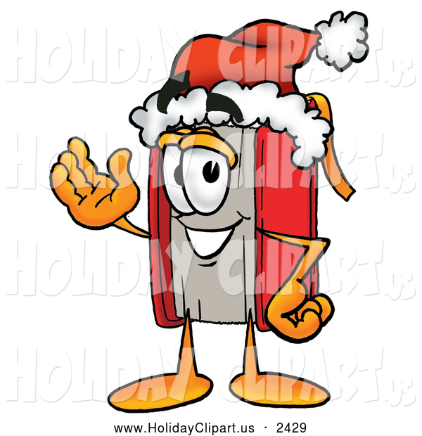Holiday Clip Art Of A Smiling Red Book Mascot Cartoon Character