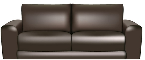 Home   Clip Arts   Brown Leather Sofa