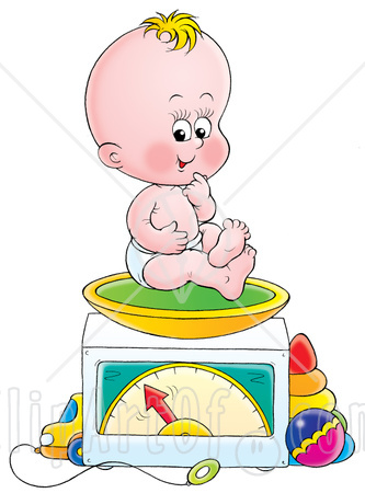 Baby Weighing Scales Clip Art