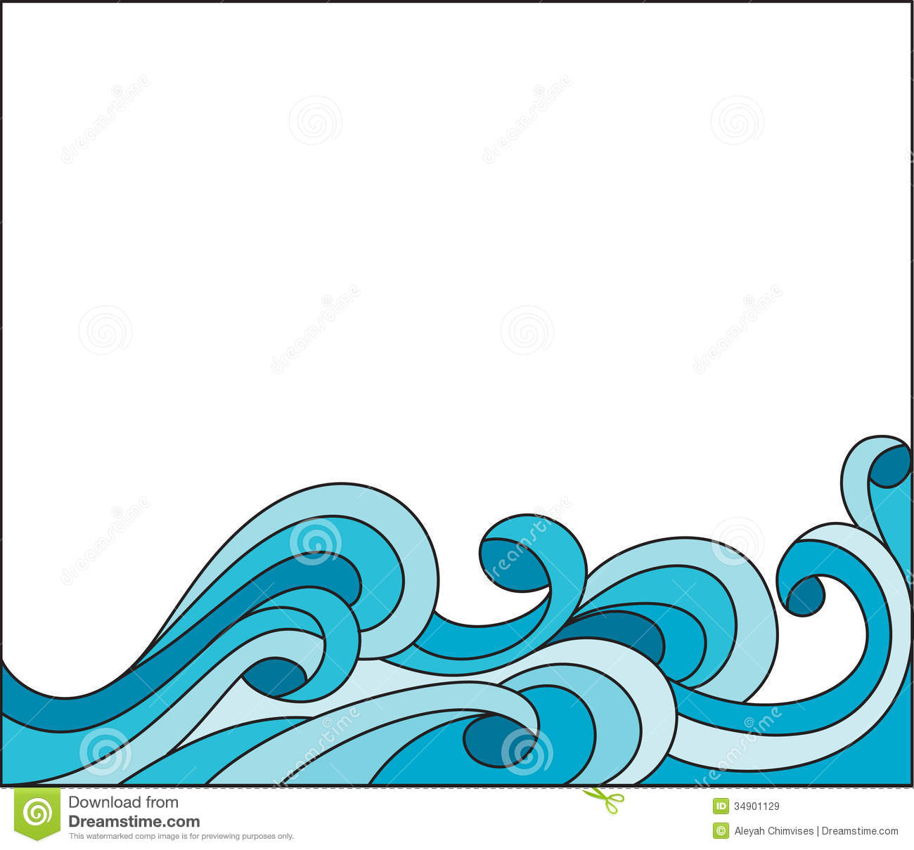 Ocean Waves Border Clipart Wave Royalty Free Stock Images