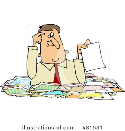 Royalty Free  Rf  Paperwork Clipart Illustration By Djart   Stock