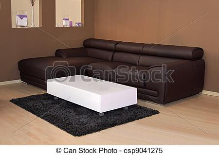 Stock Photo   Brown Leather Sofa   Stock Image Images Royalty Free
