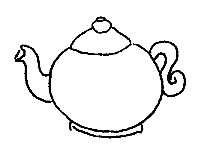 Teapot Coloring Page   Clipart Best