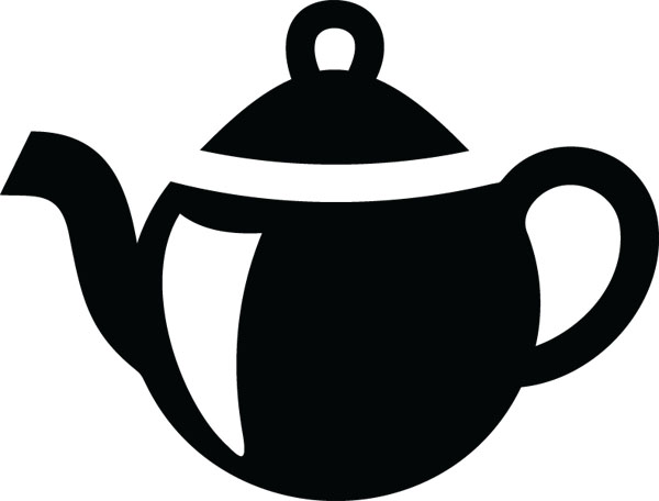 Teapot Housewares Clip Art For Custom Engraved Products