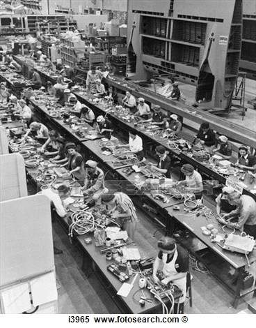 Aircraft Assembly Line 1940 1940s Women Wartime Workers Wwii Factory