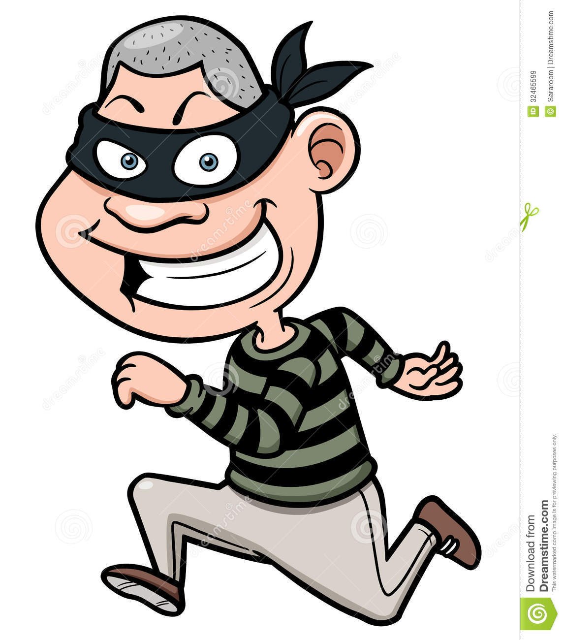 Cartoon Thief Running Royalty Free Stock Images   Image  32465599
