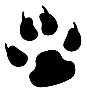 Clip Art Pawprint Clipart lion paw print clipart kid clawed image black and white print