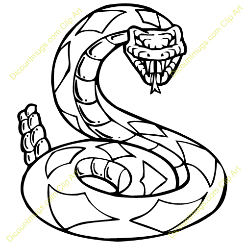 Clipart 13228 Rattlesnake   Rattlesnake Mugs T Shirts Picture Mouse