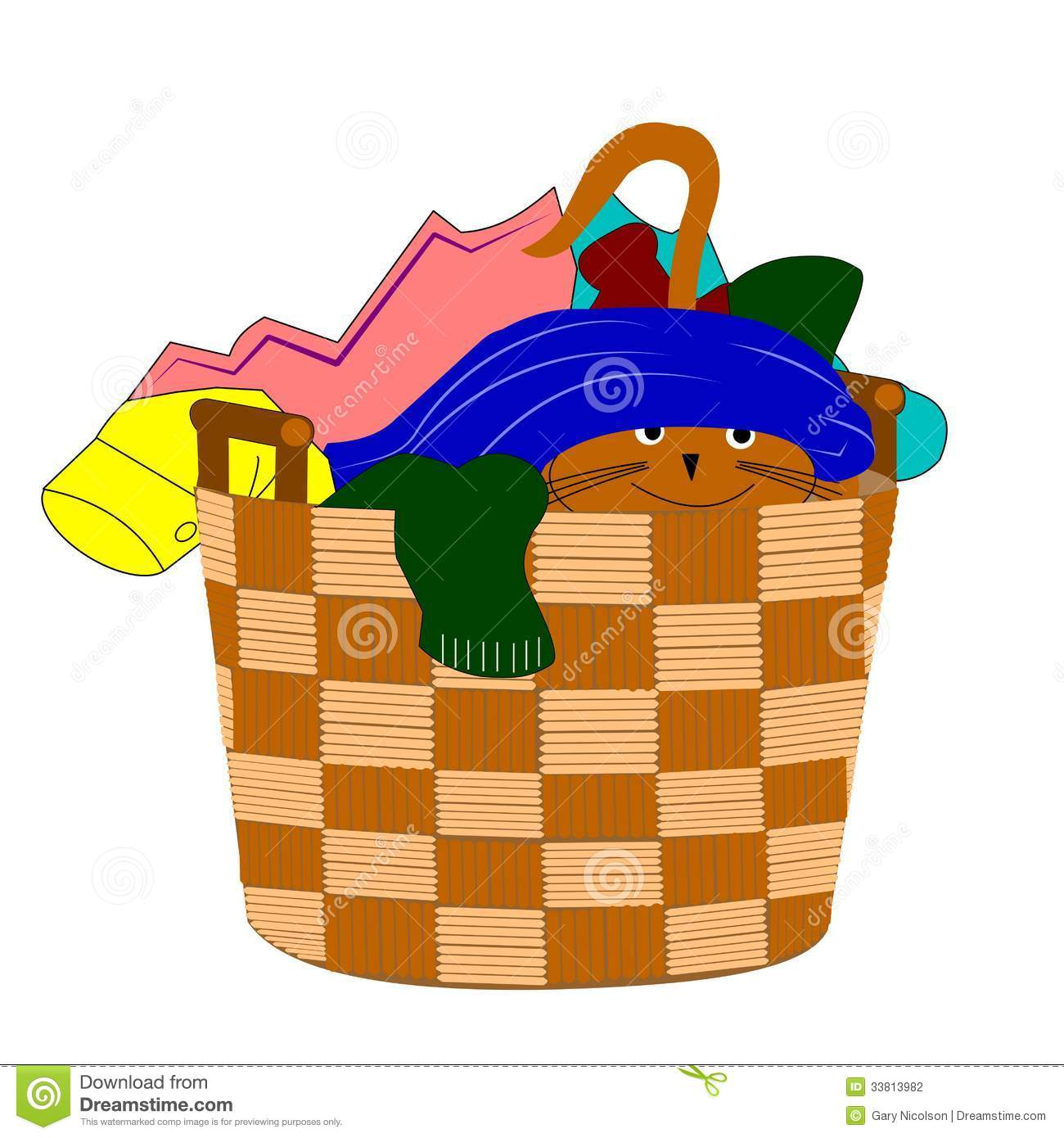 Clothes In Hamper Clipart Clipart   Dreamstime