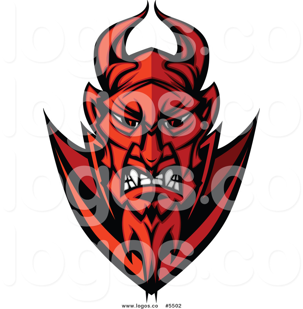 Devil Head Clipart Of A Red Angry Devil Face