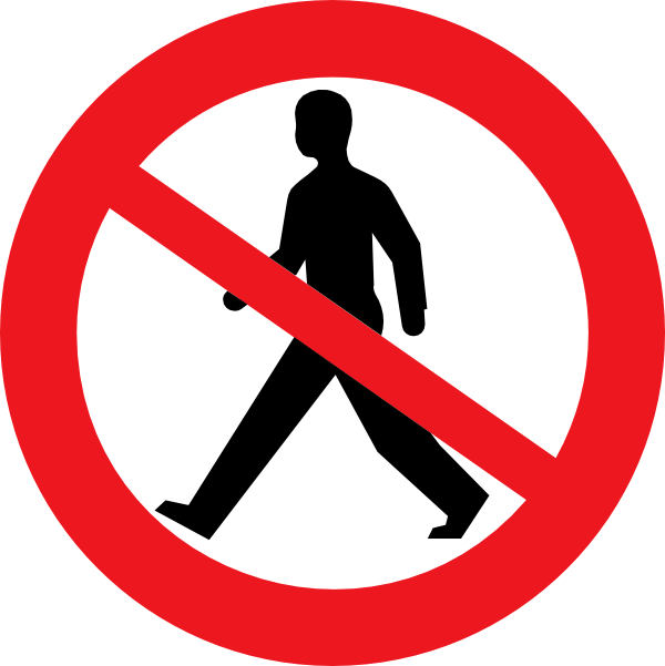 Do Not Walk Clipart - Clipart Suggest