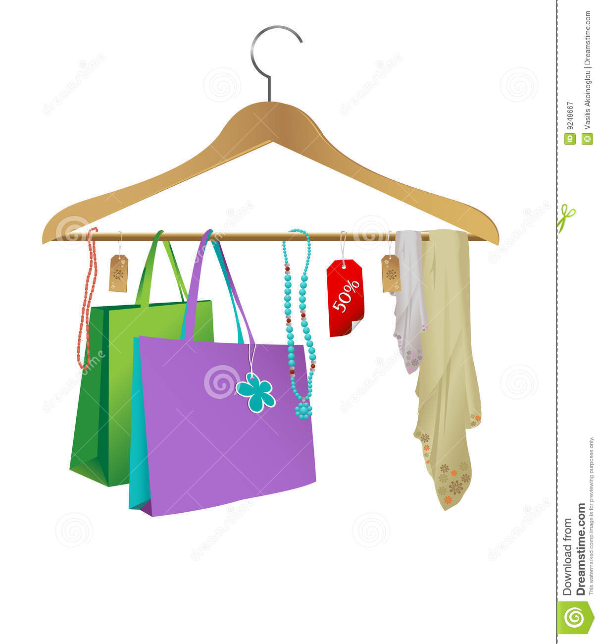 Fashion Cloth Hanger Royalty Free Stock Photography   Image  9248667