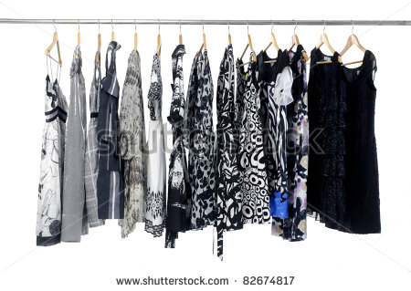Fashion Clothes On Hangers Fashion Clothes On Hangers   Stock Photo
