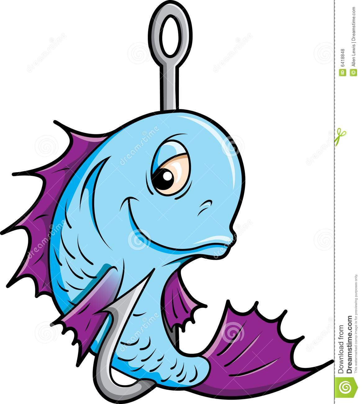 Fish On A Hook  Royalty Free Stock Photos   Image  6418848