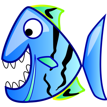 Fish W Big Teeth    Cartoon Animals Fish Toothy Fish Fish W Big Teeth