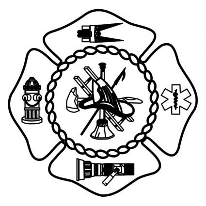 Firefighter Badge Clipart - Clipart Kid