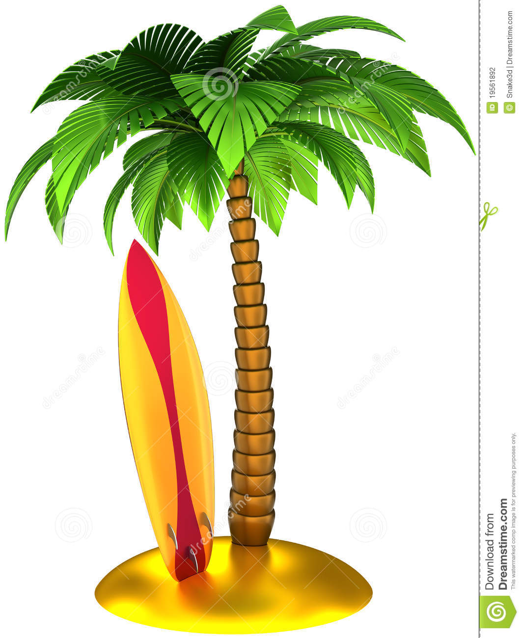 Hawaiian Palm Tree Clip Art Palm Tree Surfboard Stylized 19561892 Jpg