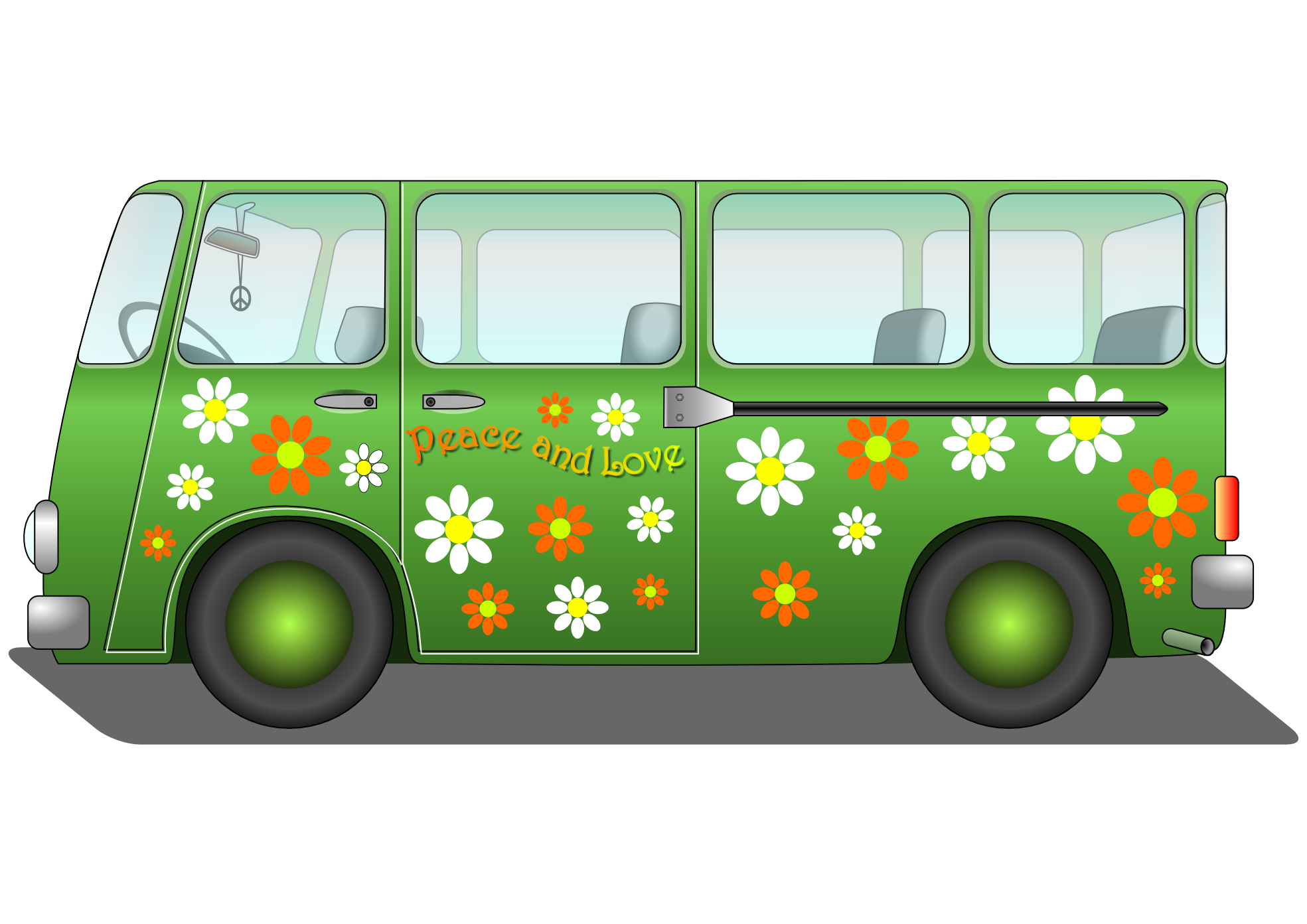 Green Hippie Van Clipart - Clipart Suggest