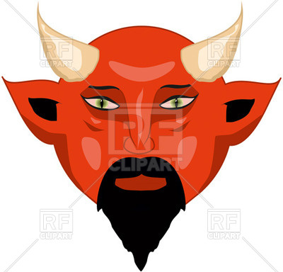 Of Devil Red Satan Face Download Royalty Free Vector Clipart  Eps