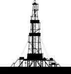 Oil Rig Silhouette Isolated On White Background   Oil Rig