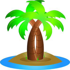 Pin Palm Tree Curved Clip Art Clip On Pinterest