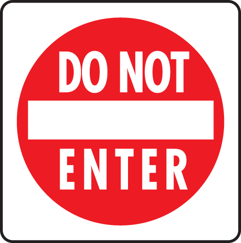 Please Do Not Enter Sign   Clipart Best