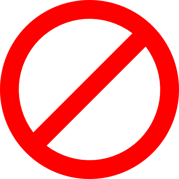 Red Not Sign Transparent Clip Art