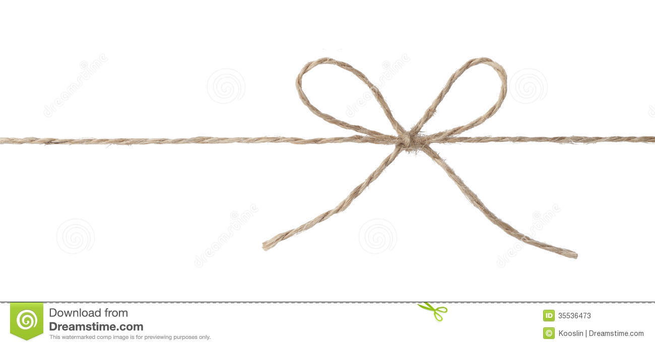 Rope With Bow Knot Stock Photos   Image  35536473