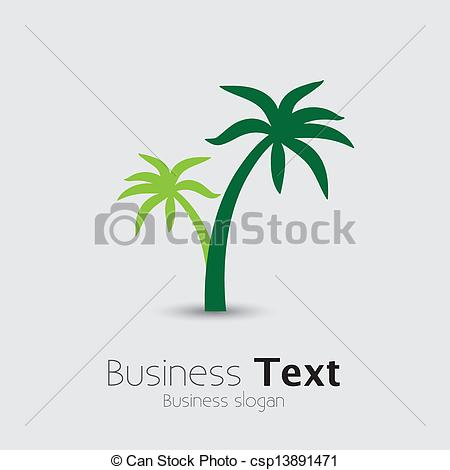 Vector   Coconut Palm Tree Icons Or Symbols Of Travel  Vector Graphic