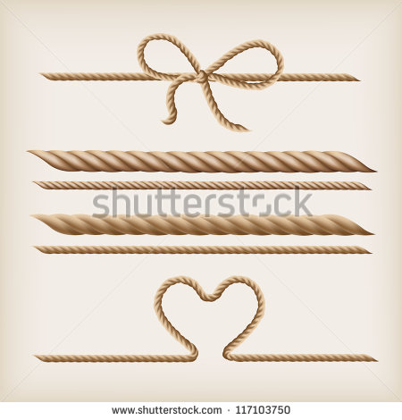 Vector Ropes And Rope Bow   Stock Vector