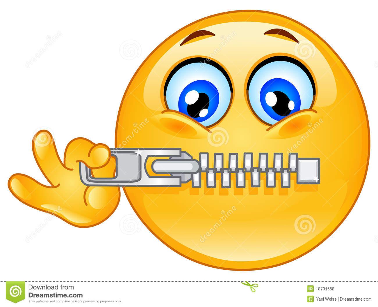 Zipper Emoticon Royalty Free Stock Photos   Image  18701658