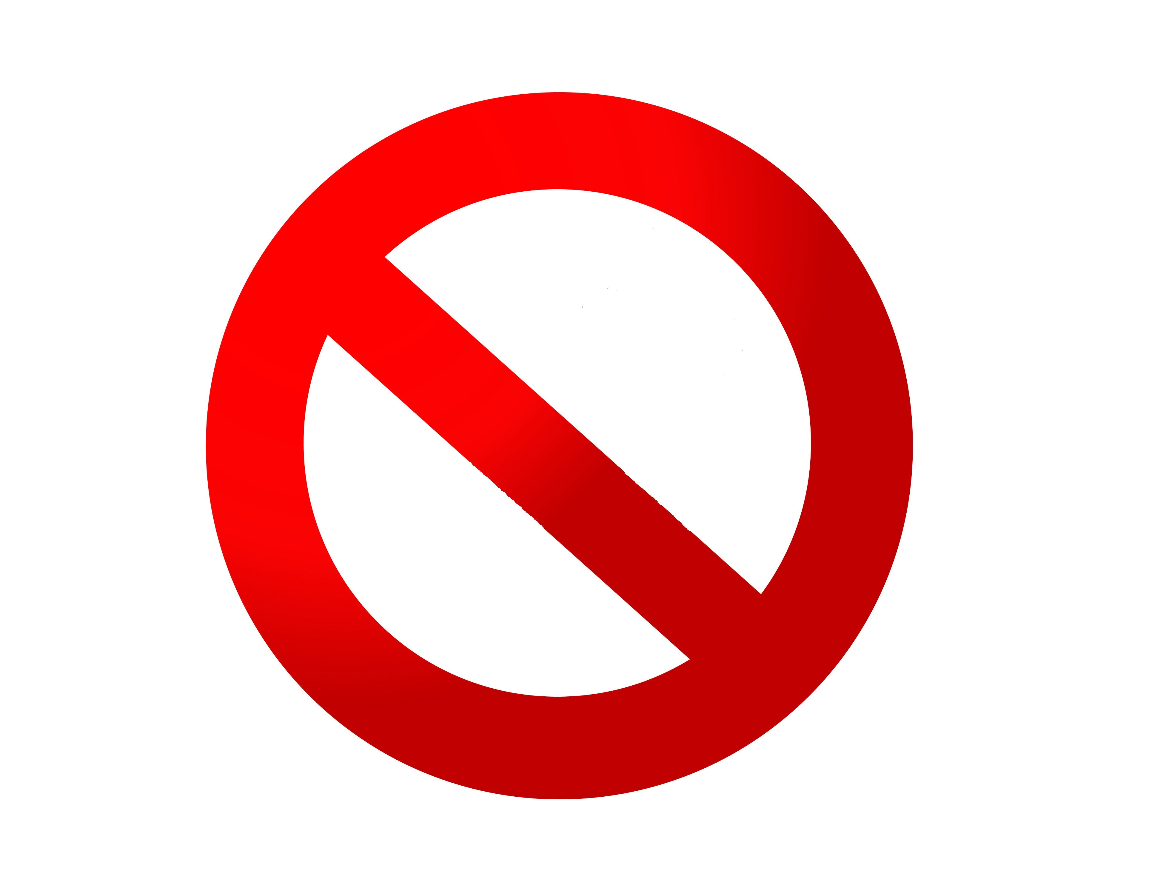 No Signs Downloadable Clipart - Clipart Kid