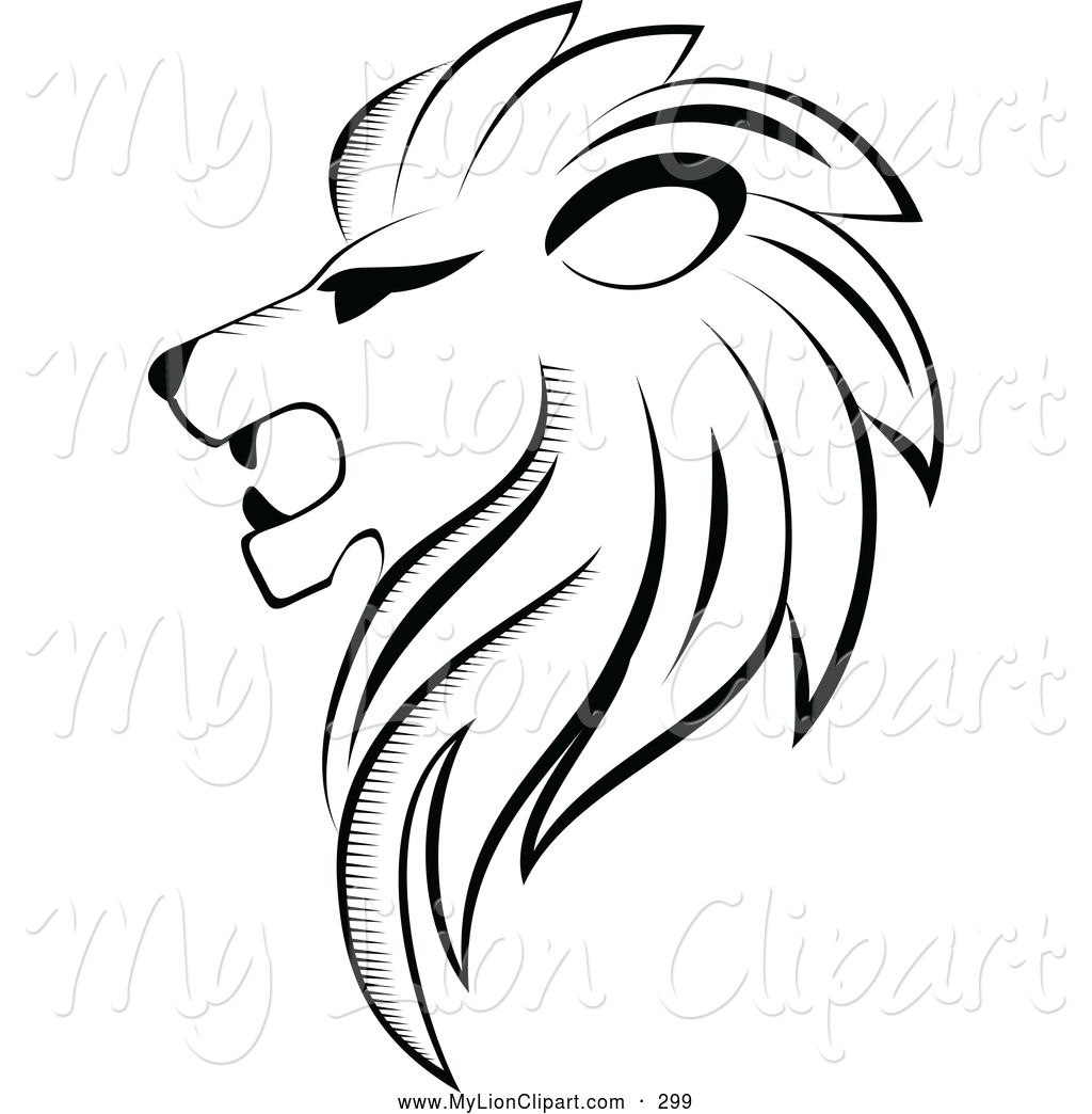 And White Strong Lion Logo Lion Clip Art Seamartini Graphics