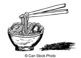 Asian Wheat Noodles Vector Clipart And Illustrations